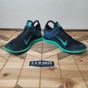 Nike Shoes - Nike Free 4.0 Flyknit Atomic Green Blue Running
